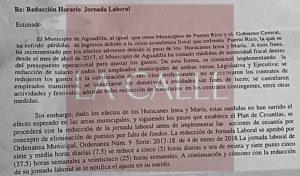 "Los dejan casi en ""part time""… Les reducen la jornada laboral a empleados municipales de Aguadilla"