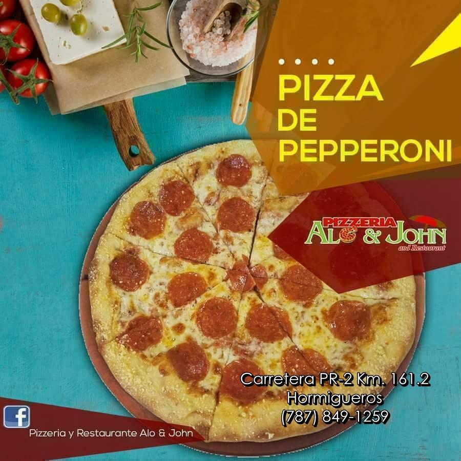 pizza alo & john info
