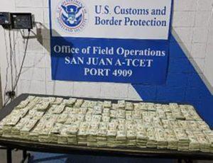 Federales confiscan en el Ferry más de $800 mil escondidos en un embarque de 16 televisores LCD