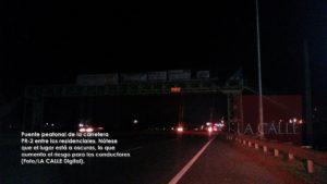 Vuelven mozalbetes a tirar piedras desde puente peatonal en la PR-2 de Mayagüez