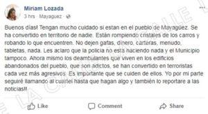 Eso no llega a la Prensa… Denuncian ola de vandalismo, cristales rotos y hurtos en Mayagüez