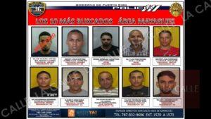 Policía revela lista de los 10 fugitivos más buscados del área de Mayagüez (Fotos)