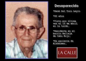 Buscan anciano paciente de Alzheimer desaparecido esta tarde en Cabo Rojo