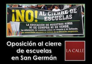 Escuelas de San Germán desde hoy en manifestación permanente contra cierres