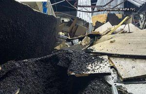 Se cae parte del techo de la ferretería National Lumber de Aguada