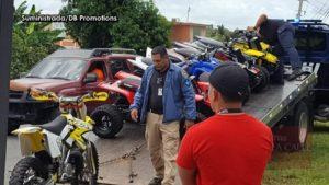 """La grúa de la Policía se las llevó… Redada de """"four tracks"""" y motoras en el Noroeste (Fotos)"""
