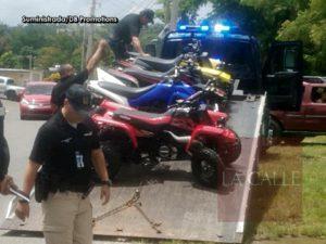 """Esta madrugada en Aguadilla… Le """"tumban"""" a la Policía 5 de los """"four tracks"""" que confiscó el domingo"""