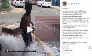 """Mal ejemplo vídeo del reguetonero Arcangel """"refrescándose"""" en una boca de incendios"""