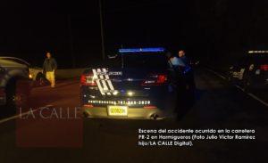 Hombre muere atropellado esta noche en Hormigueros y agente amenaza con ocupar el teléfono de LA CALLE Digital (Adelanto y fotos)