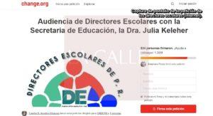 """Directores escolares exigen al Gobernador audiencia ante trato """"atropellado"""" que reciben de la Secretaria de Educación"""