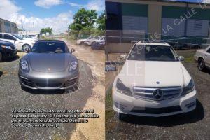 """""""De show"""" el Porsche del exsecretario de Justicia y el Mercedes que """"regateaban"""" por la Baldorioty (Fotos)"""