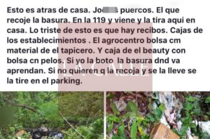 """Los """"tiran al medio"""" a través de las redes sociales… Multan 3 comerciantes por arrojar basura en San Germán (Fotos)"""